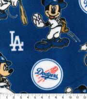 Los Angeles Dodgers Fleece Fabric-Mickey, , hi-res
