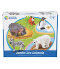 Jumbo Zoo Animals, 5/pkg