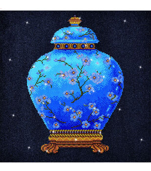 Diamond Dotz Diamond Embroidery Facet Art Kit 23.5''X23.5''-Blue Vase