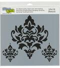 The Crafter\u0027s Workshop 12\u0027\u0027x12\u0027\u0027 Stencil-Damask Decor