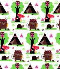 Snuggle Flannel Fabric -Tribal Wilderness Friends