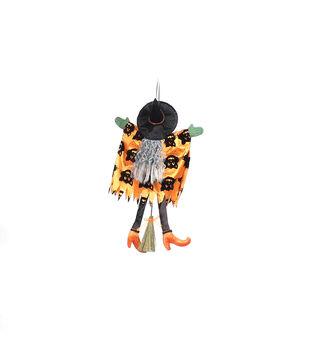 Maker's Halloween 12''x18'' Witch Body Door Hanger-Cats on Orange