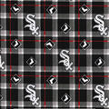 Chicago White Sox Flannel Fabric-Plaid