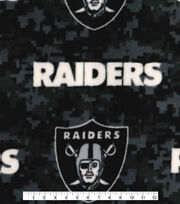 Oakland Raiders Fleece Fabric -Digi Camo, , hi-res