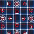 Minnesota Twins Flannel Fabric-Plaid