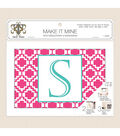 Truly Yours Needlepoint 7x10 Pink Geo