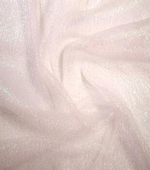 Netting Sparkle Mesh Fabric -Parfait Pink Iridescent