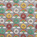 Doodles Juvenile Interlock Knit Fabric 57\u0027\u0027-Rainbow Donuts