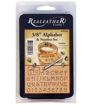 Realeather Crafts 0.38'' Alphabet & Number Set