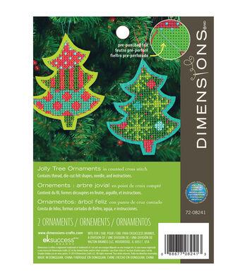 Dimensions 5.25''x4.25'' Tree Ornament Felt Counted Cross Stitch Kit