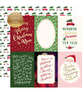 Merry & Bright Foiled Double-Sided Cardstock 12X12-4X6 Journaling Cards