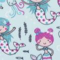 Blizzard Fleece Fabric-Mermaids on Aqua