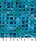 Premium Quilt Cotton Fabric-Teal Star Circles