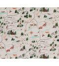 Christmas Cotton Fabric-Sugar Mountain Trail Map