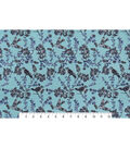 Snuggle Flannel Fabric -Birds & Vines on Green