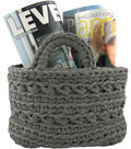 Hoooked Revisto Basket Kit with Zpagetti Yarn-Anthracite
