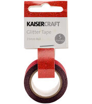 Kaisercraft 0.5''x16.5' Glitter Tape-Red, , hi-res