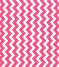 Quilter\u0027s Showcase Cotton Fabric-Chevron Pink/White