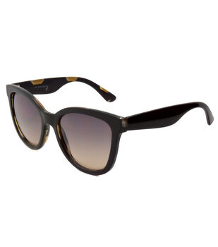 Cat Eye Sunglasses-Solid Black