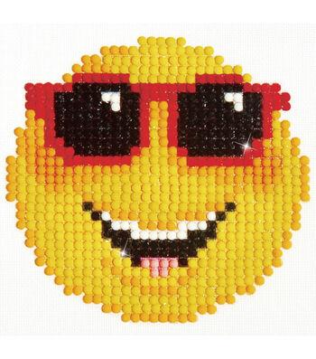 "Diamond Embroidery Facet Art Kit 6""X6""-Smiling Face"