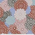 Anti-Pill Plush Fleece Fabric-Packed Medallion Coral