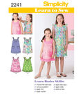 Simplicity Pattern 2241HH 3-4-5-6 -Simplicity Child Gir