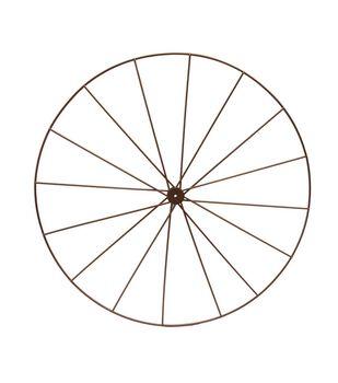 Blooming Autumn Metal Wheel Frame-Copper
