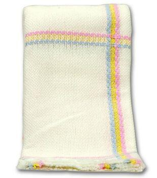 """Nursery Time Afghan 14 Count 38""""X38""""-Rainbow"""
