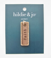 hildie & jo Gold Tag Pendant-Faith, , hi-res