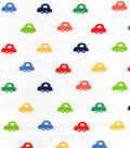 Nursery Flannel Fabric -Bright Cars