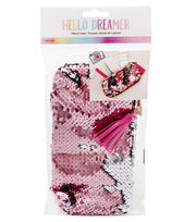 American Crafts Hello Dreamer Sequined Pencil Case, , hi-res