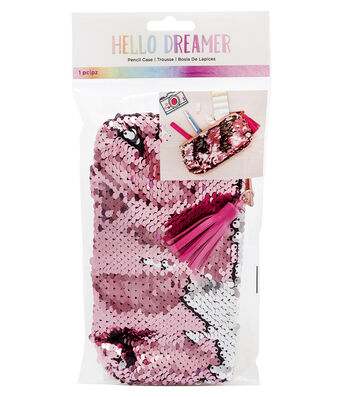 American Crafts Hello Dreamer Sequined Pencil Case
