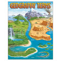 Geography Terms Learning Chart 17\u0022x22\u0022 6pk