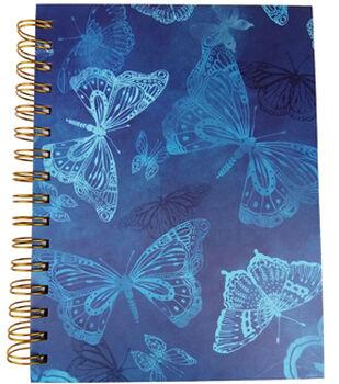 Park Lane 7.5''x9.5'' Spiral Notebook-Butterfly Print