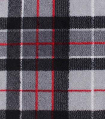 "Anti-Pill Fleece Fabric 59""-Window Pane Plaid"