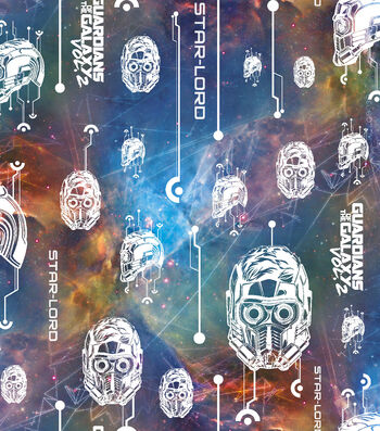 Marvel Comics Guardians Of The Galaxy Cotton Fabric 43''-Glow