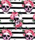 Snuggle Flannel Fabric 42\u0022-Beautiful Rebel Skull