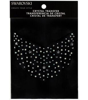 Swarovski Create Your Style Collar Crystals Iron-on Transfer