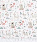 Nursery Cotton Fabric 43\u0027\u0027-Woodland Animals
