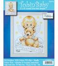 Tobin Baby 11\u0022x14\u0022 Counted Cross Stitch-Angel Baby Birth Record
