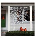 Maker\u0027s Halloween Large Corner Spider Web Decoration-White