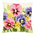 Vervaco Needlepoint Cushion Top Kit 16\u0027\u0027X16\u0027\u0027-Violets