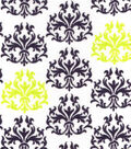 Snuggle Flannel Fabric -Lime Punch Damask