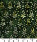 Maker\u0027s Holiday Cotton Print Batik Fabric 44\u0027\u0027-Green Pine Trees