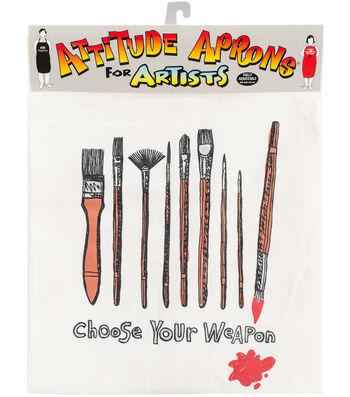 Attitude Artist Apron Natural-Choose Your Weapon