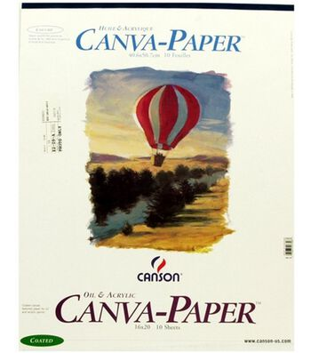 16X20 Canvas Paper Pad