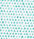 Keepsake Calico Cotton Fabric-Turquoise Shaded Triangle
