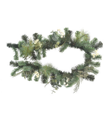 Blooming Holiday Christmas 66'' White Berry & Greenery Garland