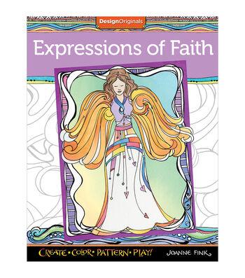 Design Originals Expressions Of Faith Coloring Book
