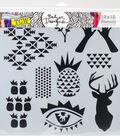 Crafter\u0027s Workshop Julie Fei-Fan Balzer Template 12\u0027\u0027x12\u0027\u0027-Trendy Images